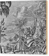 Babylon: Sun Worship Wood Print