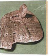 Babylonian Cuneiform Wood Print