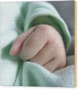 Baby's Hand Wood Print