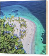 Bacardi Beach Wood Print