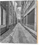 Back Alley Wood Print