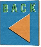 Back Button Wood Print