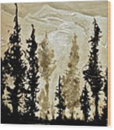 Back Country  Wood Print