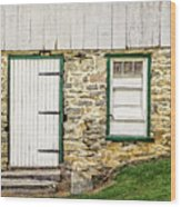 Back Entrance To An 1803 Amish Corn Barn  -  1803pacornbarn172779 Wood Print