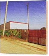 Back Gate Wood Print