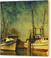 Back Home In The Harbor Wood Print