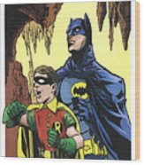 Back In The Batcave Wood Print