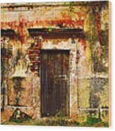 Back Lot By Darian Day Wood Print by Mexicolors Art Photography