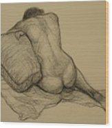 Back Nude 3 Wood Print