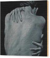Back Of Naked Woman Wood Print