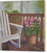 Back Porch Wood Print
