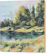 Back River Solitude Wood Print