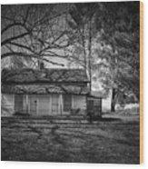 Back Road Farm House Wood Print