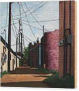 Back Street Alley city painting Wood Print