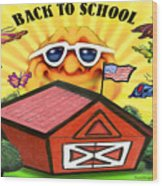 Back To School Wood Print