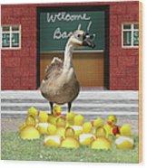Back To School Little Duckies Wood Print