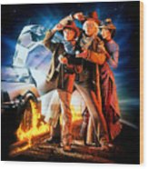Back To The Future Part IIi 1990 Wood Print