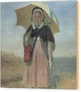 Back To The Holy Trinity 1870 Q D 25h19 Pm 7 Tg Vasily Perov Wood Print
