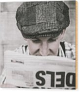 Back When News Was True Wood Print