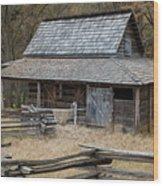 Backcountry Farm  Wood Print