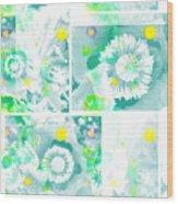 Colour Choice Poppy Collage Wood Print