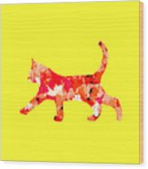 Background Colour Choice Cat Wood Print
