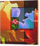 Backlit Roses Wood Print