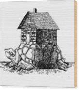 Backpack-house Wood Print