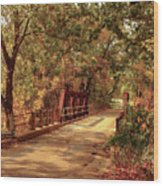 Backroads River Bridge Wood Print