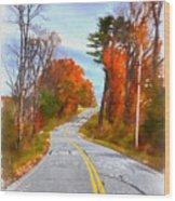 Backroads Vermont Wood Print