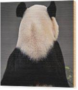 Backward Panda Wood Print