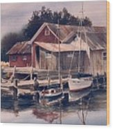 Backwater Fish Shack Wood Print