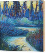 Backwater Light Wood Print