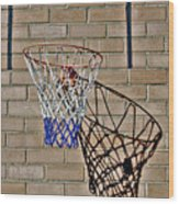 Backyard Basketball Wood Print