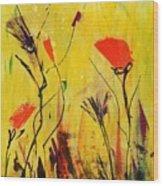 Backyard Flowers 2 Wood Print