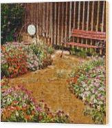 Backyard Garden Wood Print