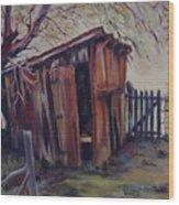 Backyard Shed Wood Print