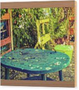 Backyard Summer Wood Print