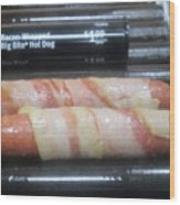 Bacon Wrapped Hot Dogs Wood Print