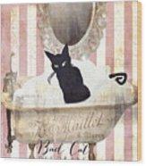 Bad Cat I Wood Print