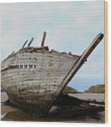 Bad Eddie's Boat Donegal Ireland Wood Print