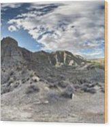 Bad Lands En La Provincia De Granada Wood Print
