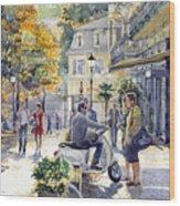 Baden-baden Sophienstr Last Warm Day Wood Print
