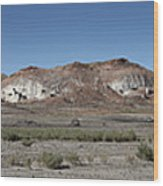 Badlands Wood Print by Kenneth Hadlock