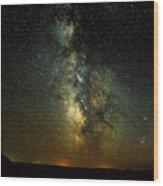 Badlands Milky Way Wood Print
