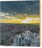 Badlands Np Pinnacles Overlook 2 Wood Print