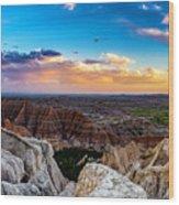 Badlands Np Pinnacles Overlook 3 Wood Print