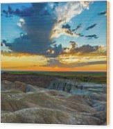 Badlands Np Wilderness Overlook 1 Wood Print