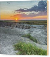 Badlands Np Wilderness Overlook 3 Wood Print
