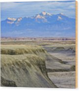 Badlands Of Utah Wood Print